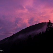 Po búrke pri západe slnka