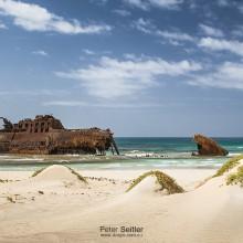 Vrak lode  – pláž Cabo Santa Maria